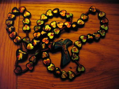 SAINTS ICON ROSARY BEADS Rosaries Wood Wooden Catholic
