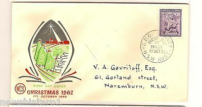 Wcs First Day Cover - Christmas 1962, Gpo Sydney