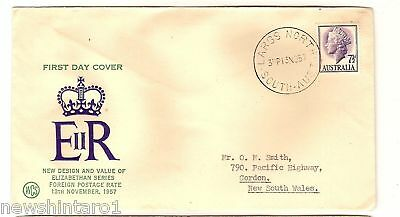 Wcs First Day Cover - 1957 New Qeii Design Stamps