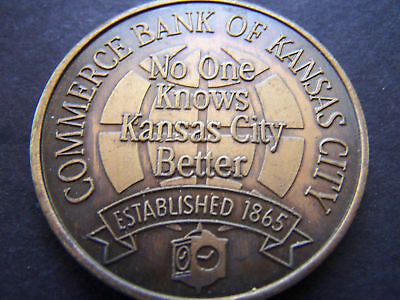 1994 COMMERCE BANK OF KC Antique Bronze Doubloon