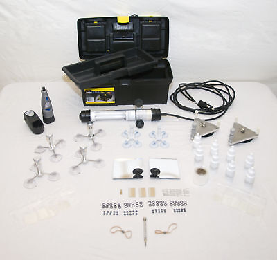 Professional Windshield Repair System Glass Repair Kit 8 injectors 6 oz resin+++