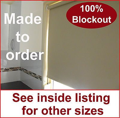 Roller holland blockout blind 600mm w x 900mm d various colours