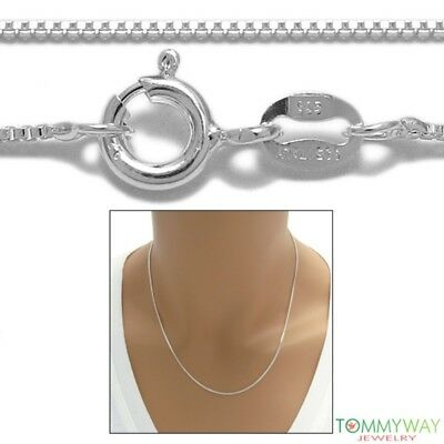 Sterling Silver BOX chain necklace 1.2mm 019 GAUGE