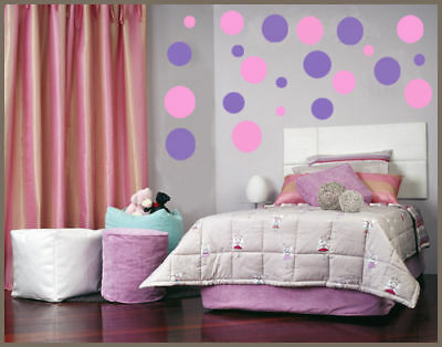 Vinyl wall art stickers circles 216 POLKA DOTS bubbles