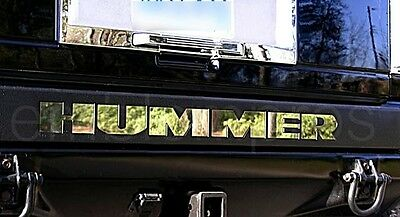 GM H2 REAR BUMPER INSERTS LETTERS FILLS STAINLESS STEEL