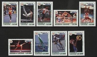 Sierra Leone 1992 Olympic Games Short Set 9/12 To 400L