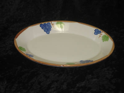 """Coors China Co. GRAPES [Disc.] Pattern 11 3/4"""" Oval Serving Platter"""