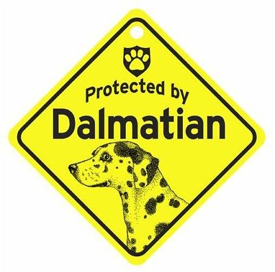 Protected by  Dalmatian  Dog Car Window Sign