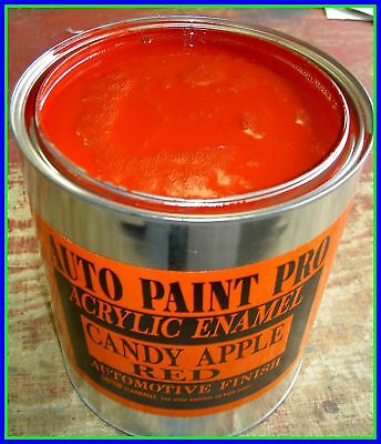 Candy Apple Red Acrylic Enamel Single Stage Auto Body Shop Restoration Paint