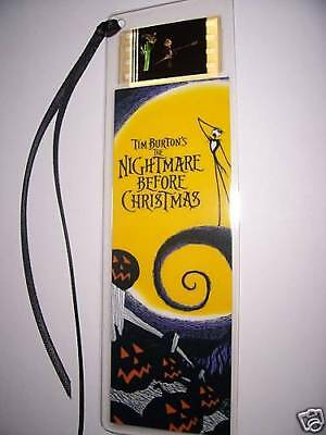 NIGHTMARE BEFORE CHRISTMAS Movie Film Cell Bookmark