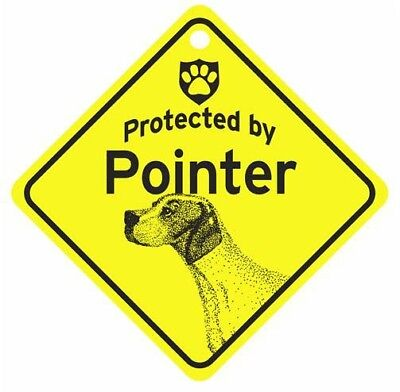 Protected by Pointer  Dog Car Window Sign