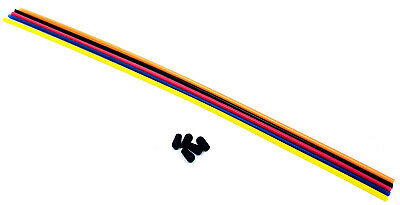 Plastic Antenna Pipe Black Cap Receiver Aerial Tube Mix x 5