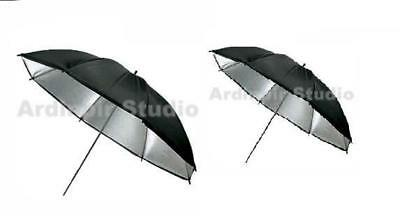 2 Pack Black Silver Studio Photo Light Umbrella Softbox