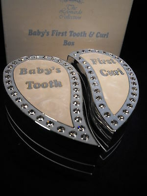BABY BOY CHRISTENING GIFT, SILVER FIRST TOOTH AND CURL my baby boy gift FREE P P