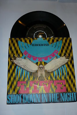 "HAWKWIND - Shot Down In The Night - 1980 UK 7"" vinyl Single"