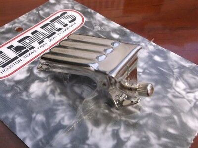 NEW - Banjo Tailpiece, Clamshell Style - NICKEL
