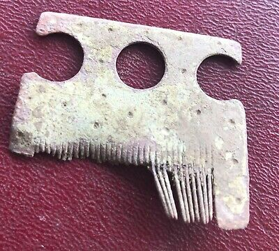 Authentic Ancient Lake Ladoga VIKING Artifact > BRONZE Beard COMB  Y47