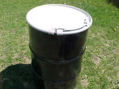 55 gallon Metal steel barrel barrels open top removable drum drums leverlock lid