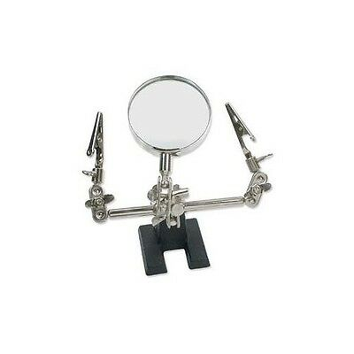 Third 3rd Hand 4x MAGNIFIER w/ CLAMPS ~ Jewelers TOOL For Soldering + Assembly
