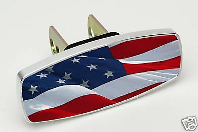 USA Waving Flag American Hitch Cap Plug Receiver Cover  1.25 or 2 inch america