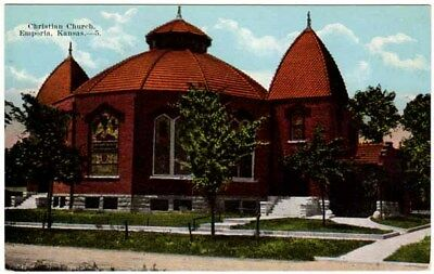 Postcard Christian Church in Emporia, Kansas