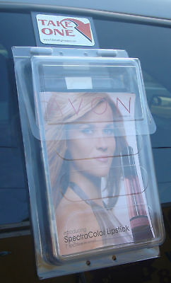 Bi Fold Outdoor Vehicle Brochure Holder Literature Box Avon Mary Kay