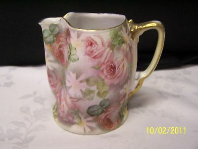 Royal Bayreuth Rose Tapestry Pitcher w/ Pink Roses N/R