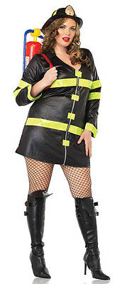 Fire Fighter Costume, Leg Avenue 83230X, Adult Women's 2 Piece, Plus Size 1X/2X