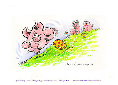 Limited Edition Piggin Print-Easter Rollover-Signed