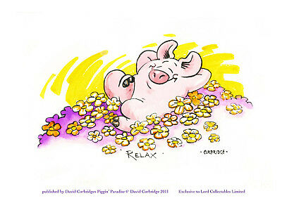 Limited Edition Piggin Print-Relax Mum Mothers-Signed