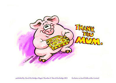 Limited Edition Piggin Print-Thank You Mum-Signed