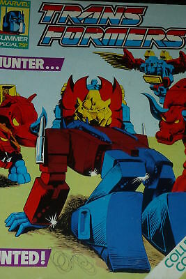 THE TRANSFORMERS SUMMER Special Marvel Rare UK (1985) +6