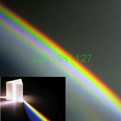 NEW  Amazing Physics Teaching Quality Optical Glass Prism