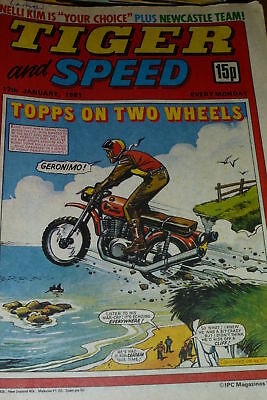 TIGER & SPEED - Issue 17/01/1981 - Inc Newcastle PO