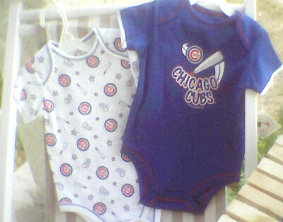 Chicago CUBS Infant Onesie Shirt Set Baby 18m 24m NWT