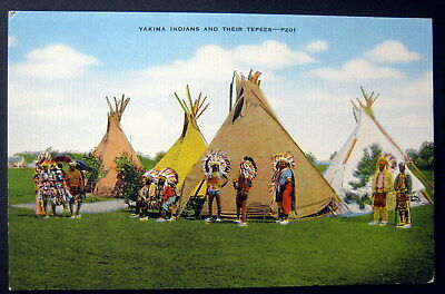 **1940's YAKIMA INDIANS AND THEIR TEPEES