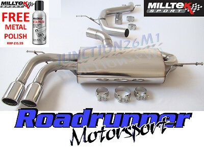 Milltek Golf GTI Mk5 Stainless Exhaust System Cat Back NON-RES & TUV SSXVW147