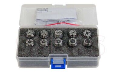 """ER16 COLLET SET--1//16/"""" up to 3//8/"""" by 16th -11 COMMON SIZES #ER16-SET11--NEW"""