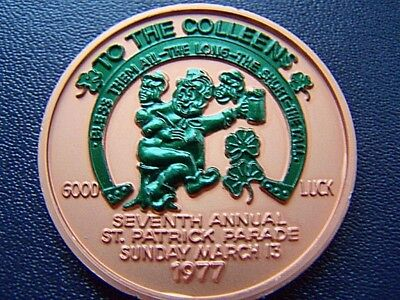 1977 Jefferson Parish St. Patrick's Day Dual Doubloon