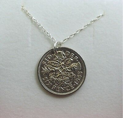 1940 79th Birthday lucky sixpence coin bracelet charm ready to hang 1940 gift