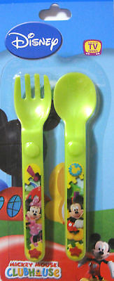 New Disney Minnie/Mickey Mouse Spoon & Fork Set