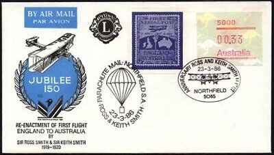 Australia Flight Cover 1986 Parachute Mail Cover