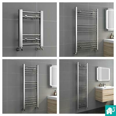 Straight Chrome Heated Bathroom Towel Rail Rad Radiator