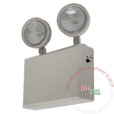 REMOTE CAPABLE Emergency Exit Light Heavy Duty 6 Volt 50 Watt Fire Code EL50HD6
