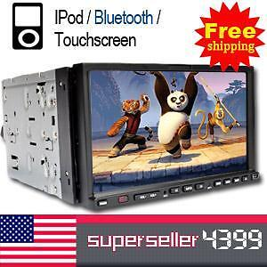 """Dual 7"""" Double 2 Din Car DVD Player Car Stereo IPOD RDS"""