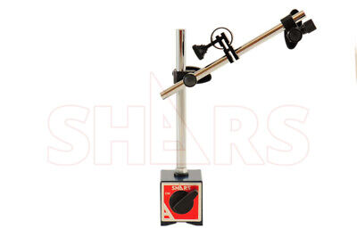 SHARS Magnetic Base with Fine Adjustment  For Dial Test Indicator 135 Lbs Force