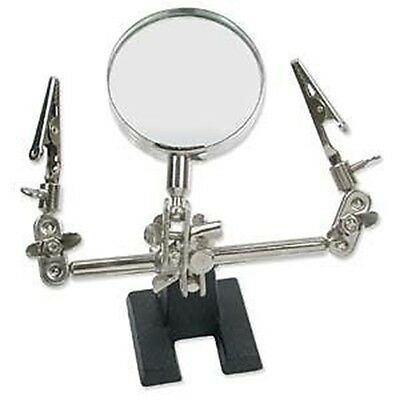 Third Helping Hand TOOL 4x MAGNIFIER w/ CLAMPS for Soldering  + Jewelry Work