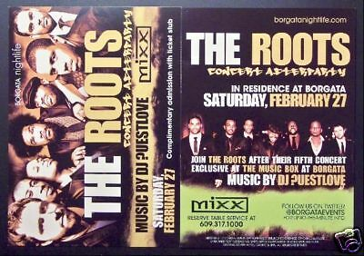 The Roots Nightclub Appearance Ad Flyer Postcard