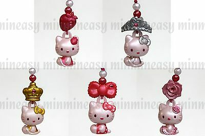 Hello Kitty Rose Figure Mobile Phone Charm Strap x 5pcs