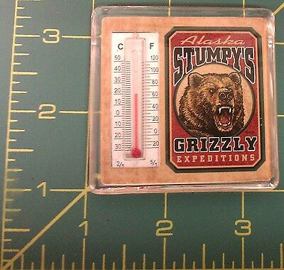 Alaska Magnet Stumpys Alaska Souvenir thermometer Magnet Grizzly Expeditions